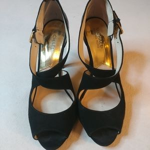 Michael Kors Sexy Black Suede Pumps sz 9.5 M
